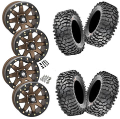 Maxxis Roxxzilla STI HD9 Bronze Beadlock Tire Wheel Kit 32-10-14(Comp Compound)