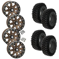 Pro Armor Crawler XR STI HD9 Bronze Beadlock Tire Wheel Kit 28-10-14