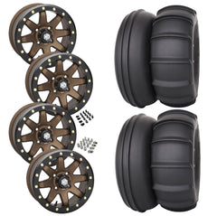 STI Sand Drifter STI HD9 Bronze Beadlock Tire Wheel Kit 28-13-14