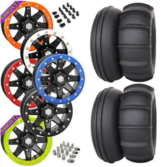 STI Sand Drifter STI HD9 Black Beadlock Tire Wheel Kit 28-13-14
