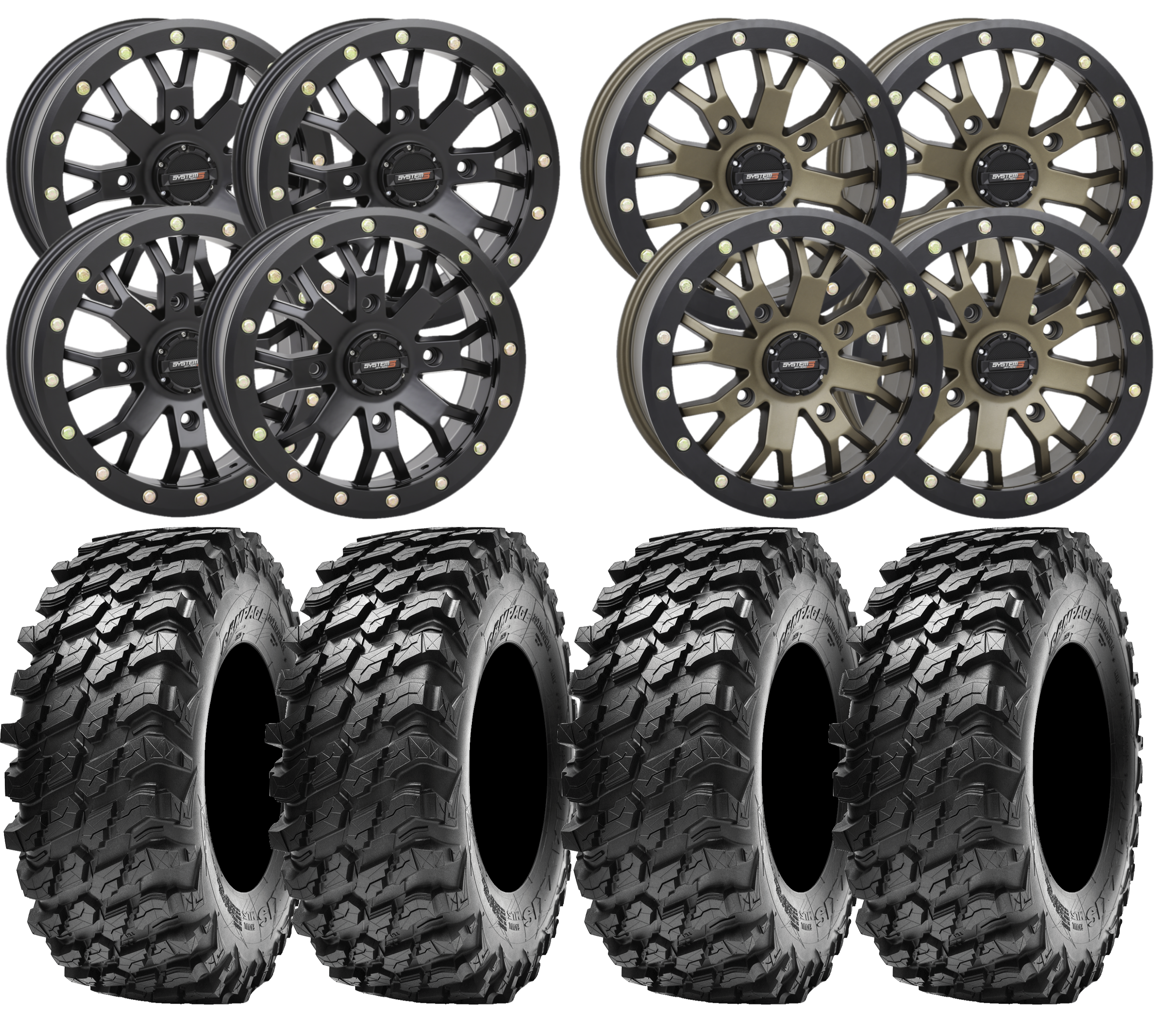 System3 Sb 4 And Maxxis Rampage Utv Wheel And Tire Kit Planetsxs Com