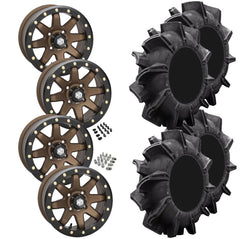 Superatv Assassinator STI HD9 Bronze Beadlock Tire Wheel Kit 29.5-8-14