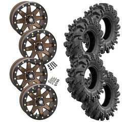 Superatv Intimidator STI HD9 Bronze Beadlock Tire Wheel Kit 32-10-14