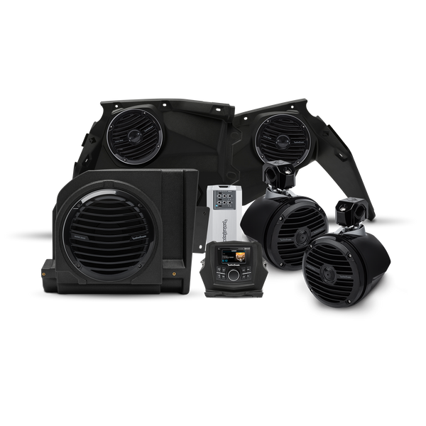Rockford Fosgate 400 watt stereo, front speaker, subwoofer, & rear speaker kit for 2017-2018 Maverick X3 models X3-STAGE4