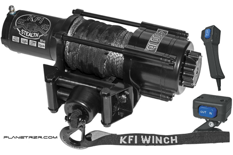 KFI-STEALTH 4500 WINCH with Free Mounting kit ! - planetrzr.com  - 1