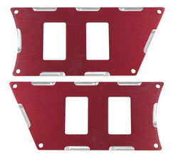 Modquad Switch Plate 4 Slot, Red