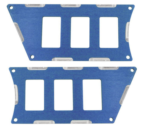 Modquad Switch Plate 6 Slot, Blue