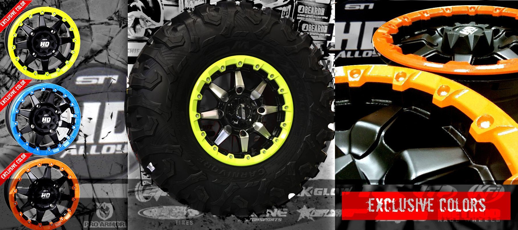 STI WHEELS FOR POLARIS RZR SIDE by Side UTV stuff parts accessories