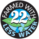 Farmed with 22% less water