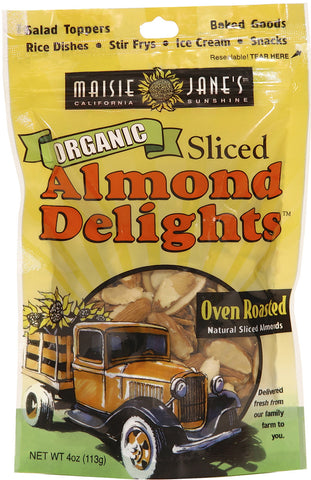 Organic Oven Roasted Sliced Almond Delights