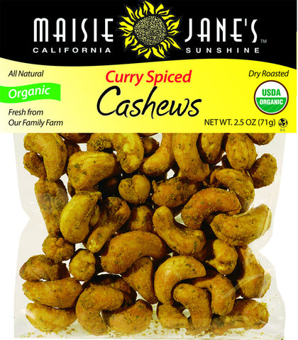 Organic Curry Spice Cashews