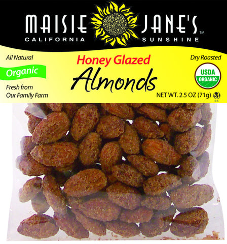 Organic Honey Glazed Almonds