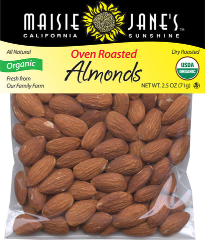 Organic Oven Roasted Almonds