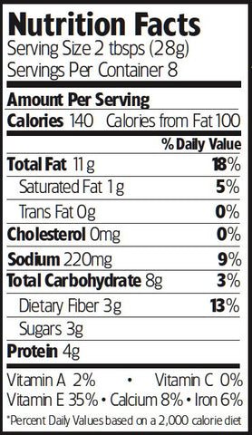 Nutrition Facts Cowboy BBQ Almonds
