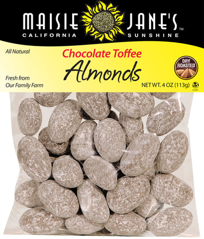 Chocolate Toffee Almonds size 4 oz