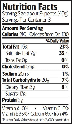 Nutrition Facts Mint Chocolate Almonds