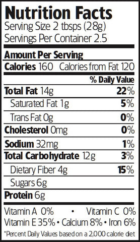 Nutrition Facts Organic Honey Glazed Almonds