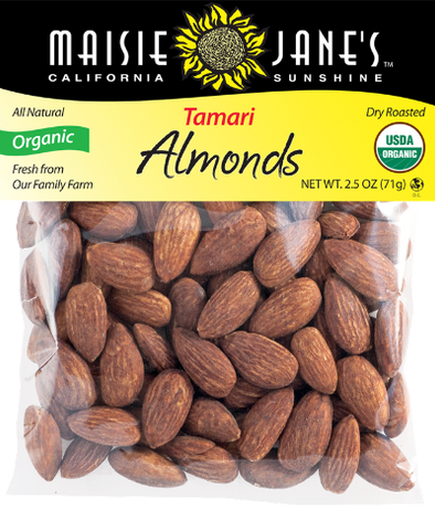 Organic Tamari Almonds 2.5oz