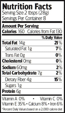 Nutrition Facts Tamari Almonds