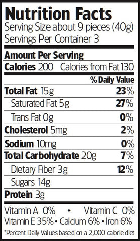 Nutrition Facts Truffle Almonds