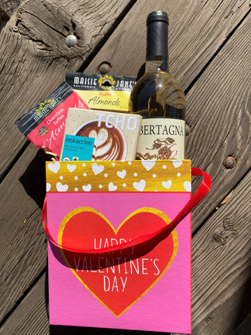 Valentine Wine & Chocolate Gift Box