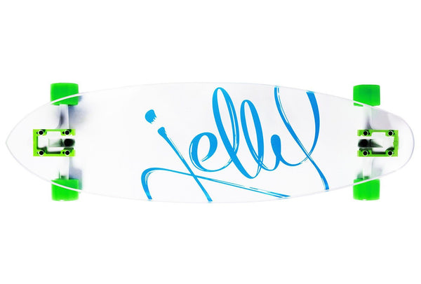 Jelly Man O' War 34-Inch Pintail Longboard Complete - Aqua Lime