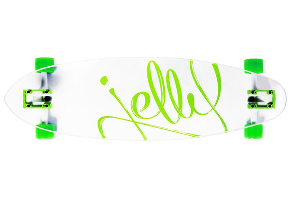 Jelly Man O' War 34-Inch Pintail Longboard Complete - Lime