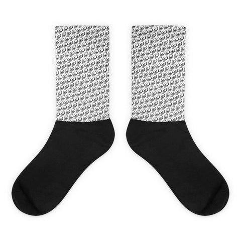 Jellyfish Black Foot Socks