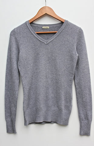 Italian Soft & Stretchy V-Neck Basic Jumper