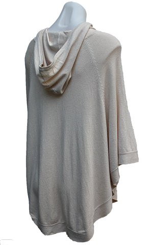 Soft Knit Poncho with Hood