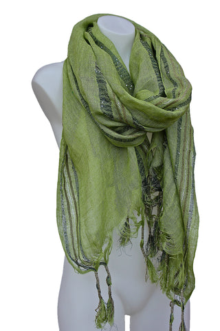 Long Linen Scarf Shawl Wrap Sarong