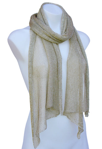 Fishnet Metallic Scarf Shawl