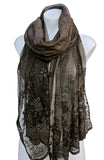 LONG SILK & VISCOSE SCARF/SHOULDER WRAP