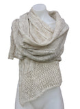 Wool Blend Crochet Style Shawl/Scarf/Shoulder Wrap