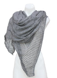Wool Blend Crochet Style Shawl Scarf Shoulder Wrap