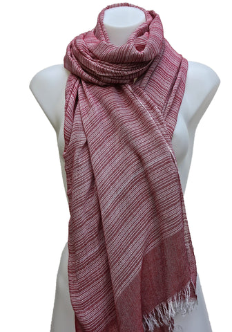 LONG UNISEX GAUZE COTTON STRIPED SCARF