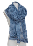 Sheer Floral Lace Fringed Shawl Scarf Shoulder Wrap