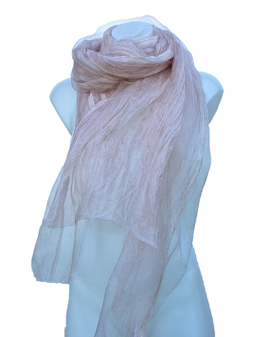 Silk & Cotton Long Sheer Scarf/Wrap
