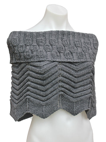 Chunky Knit Shoulder Poncho Infinity Scarf