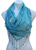 Triangle Lace Scarf with Sequin