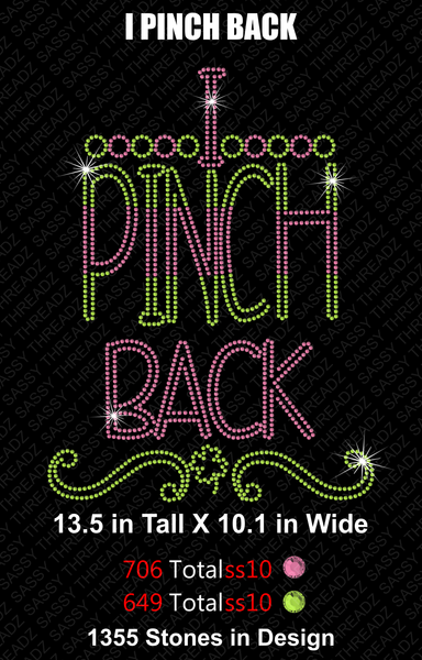 SVG & EPS I Pinch Back Rhinestone Download