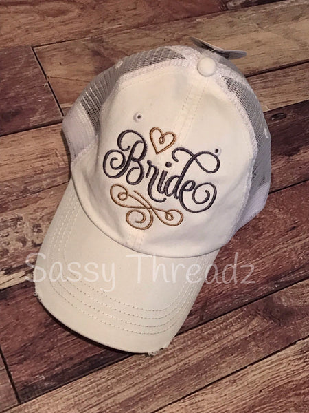 Bride embroidery Trucker Hat