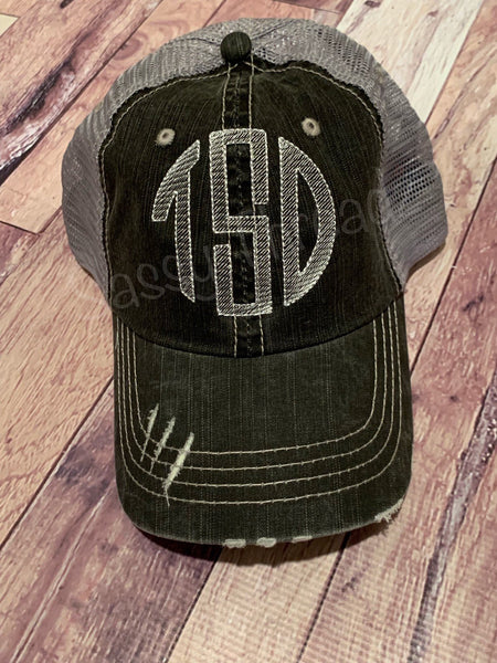 Sketch Circle Embroidered Trucker Hat