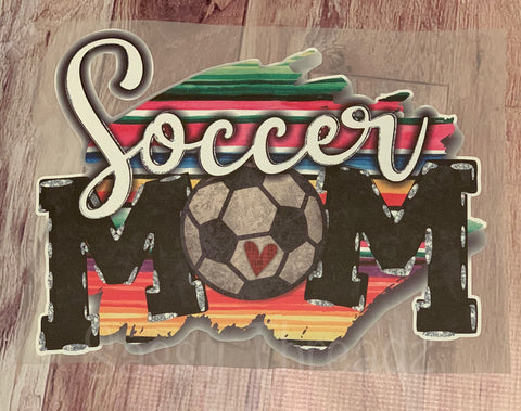 Serape Soccer Mom HTV Transfer