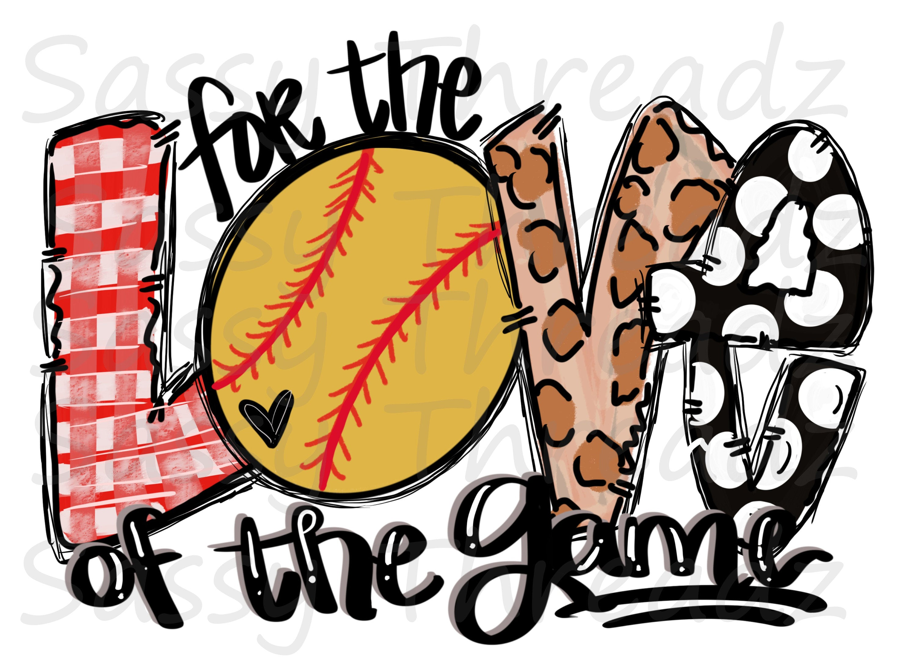 For The Love Of The Game Softball HTV Heat Transfer Vinyl