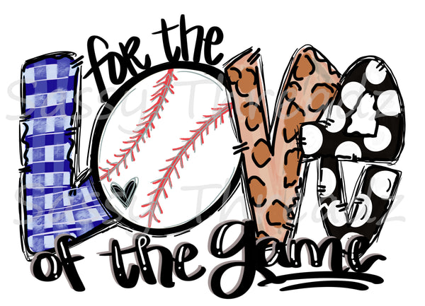 For The Love Of The Game Baseball HTV Heat Transfer Vinyl