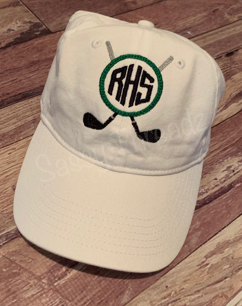 Golf Custom Monogram School Ladies Hat