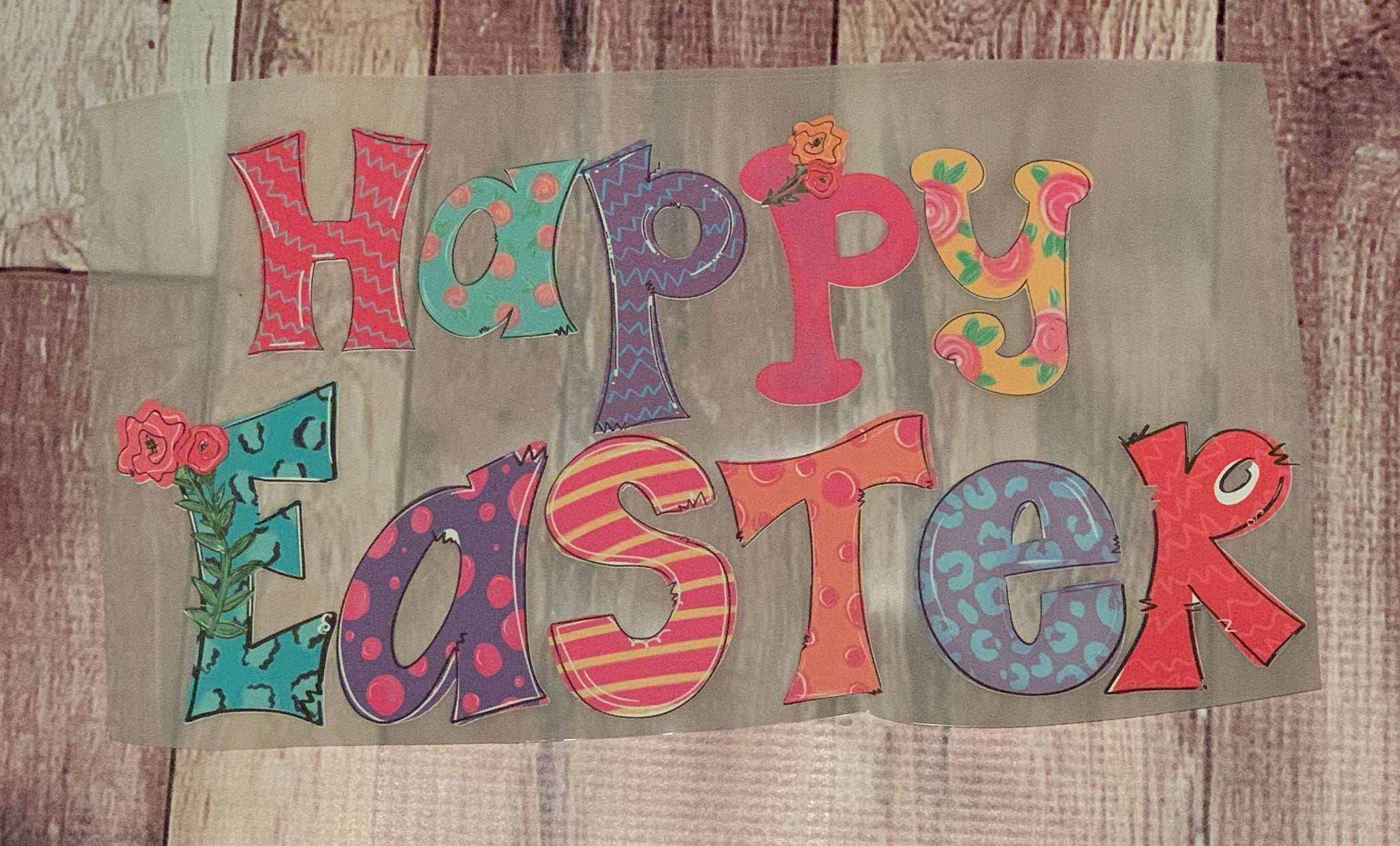 Happy Easter HTV Transfer