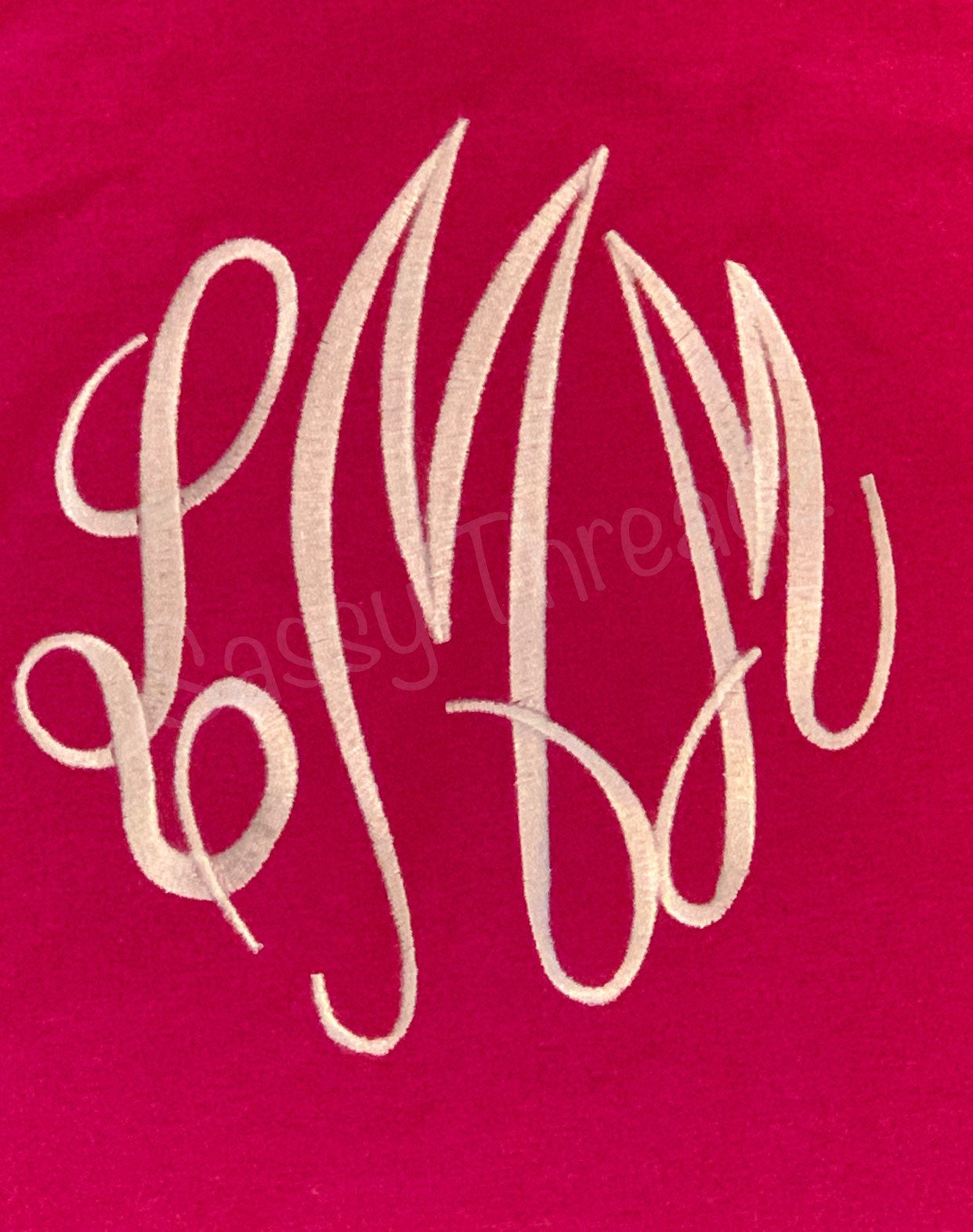 Ladies or Girls  Embroidery Monogram Tee