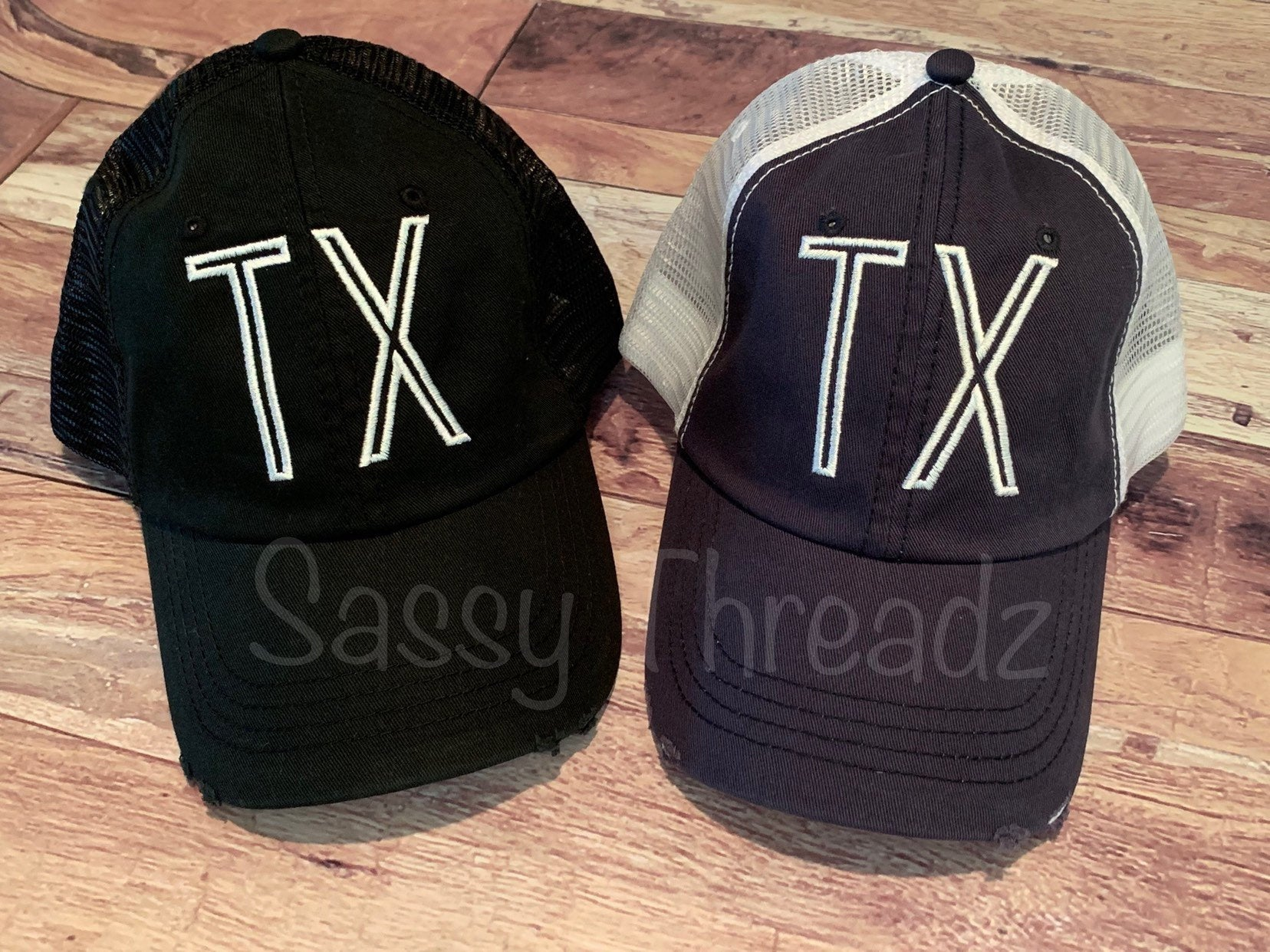TX Texas Embroidered Trucker Hat